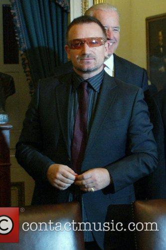 Bono (of U2) visits the U.S. Senate Committee...
