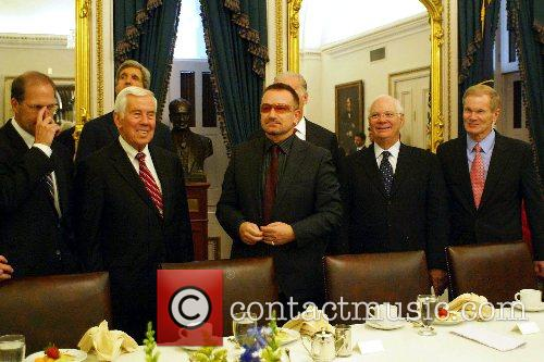 Bono (of U2) visits the U.S. Senate Committee...