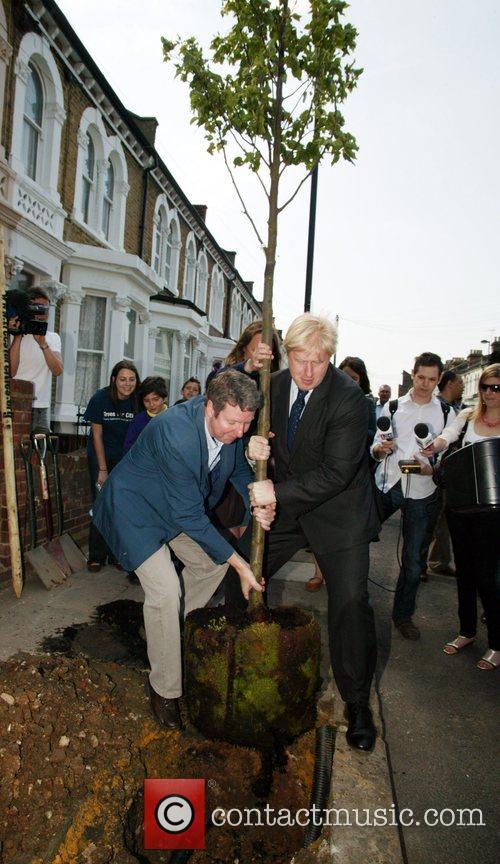 Mayor of London, Boris Johnson visits Brixton to...