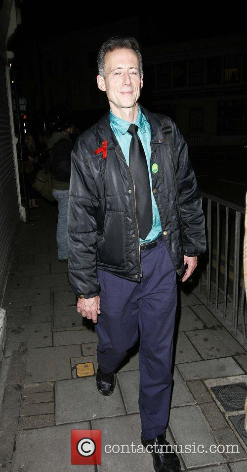 Peter Tatchell leaving the event 'Moroccan Mirage' held...