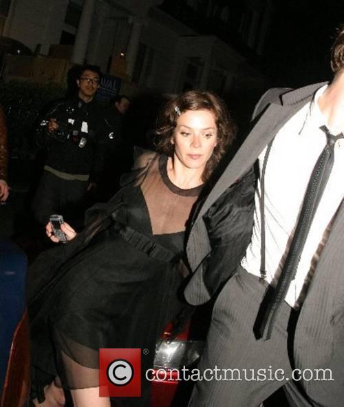 Anna Friel leaving Boujis Nightclub with a mystery...