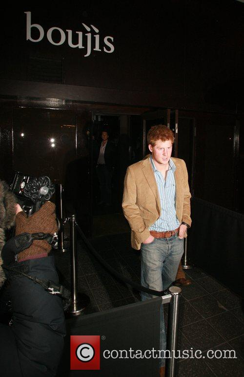 Prince Harry leaving Boujis nightclub on his own