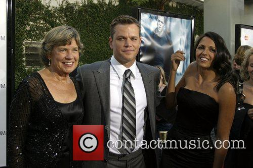 Matt Damon wife Luciana Barroso and his mother...
