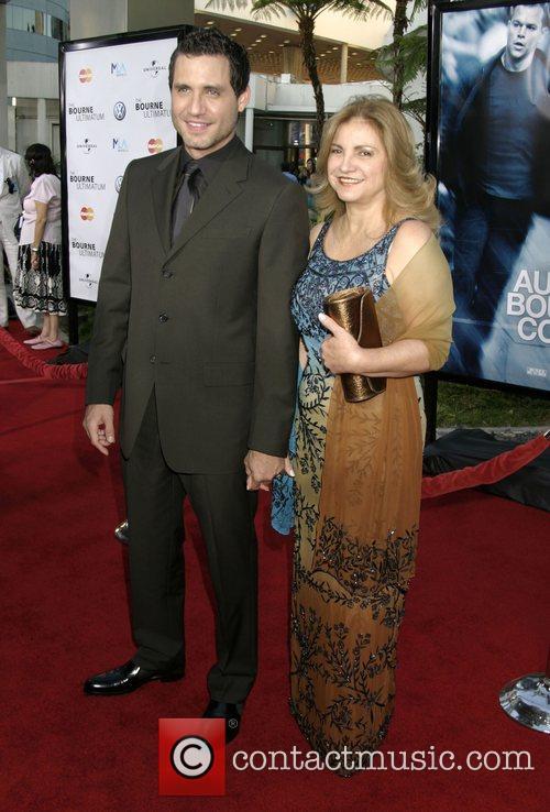 Edgar Ramirez & Mother 'The Bourne Ultimatum' World...