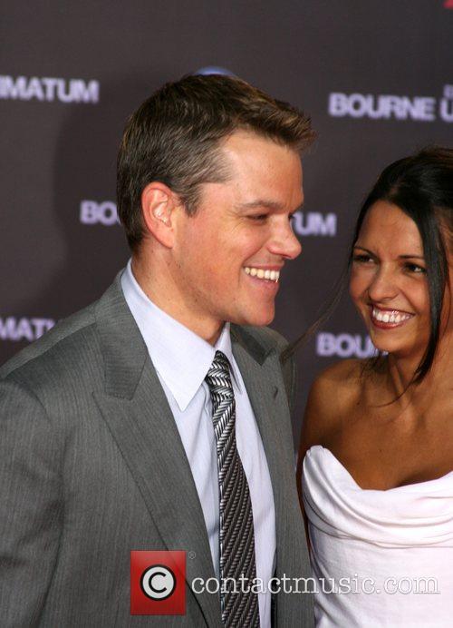 Matt Damon and wife Luciana Barroso German premiere...