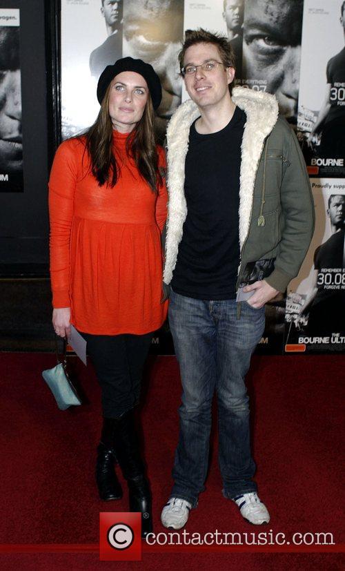 Jolene Anderson and guest  Bourne Ultimatum Premiere...