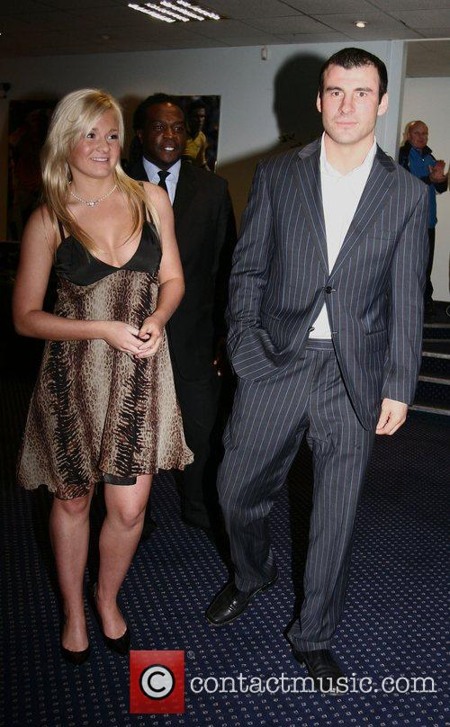 Joe Calzaghe and guest at a boxing dinner...