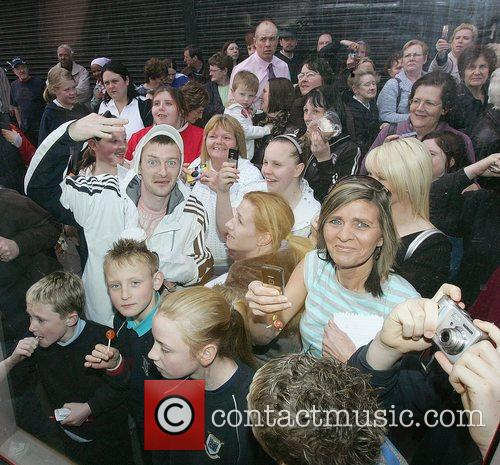 Boyzone Fans at the opening of Keith Duffy's...