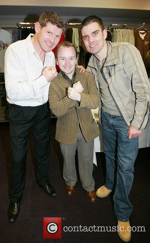 Jim Rock, Ritchie Hayes and Bernard Dunne attend...