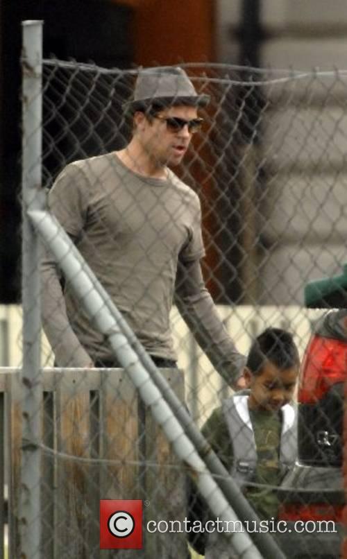 Brad Pitt picks up son Maddox from school