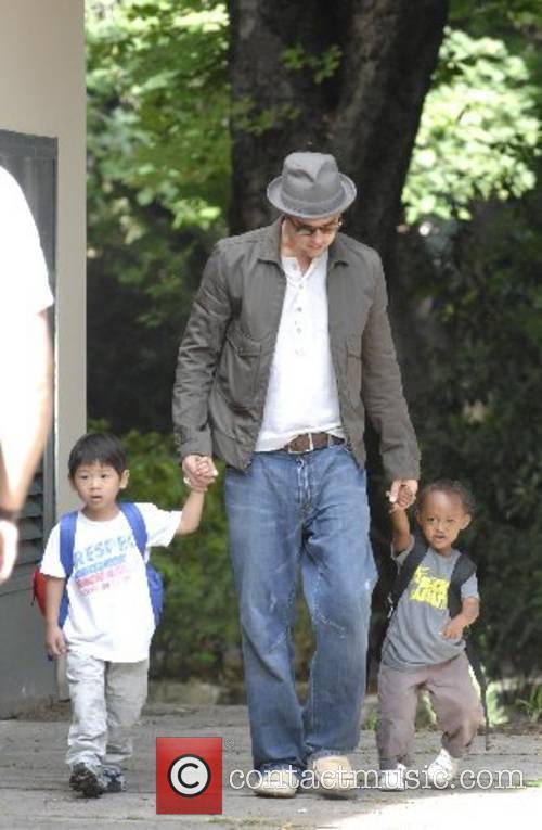 Brad Pitt takes his daughter Zahara to the...