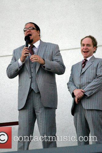 Penn Jillette and Teller of Penn & Teller...