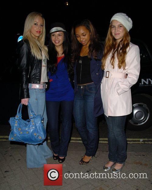 Bratz girls arrive at their hotel in Mayfair