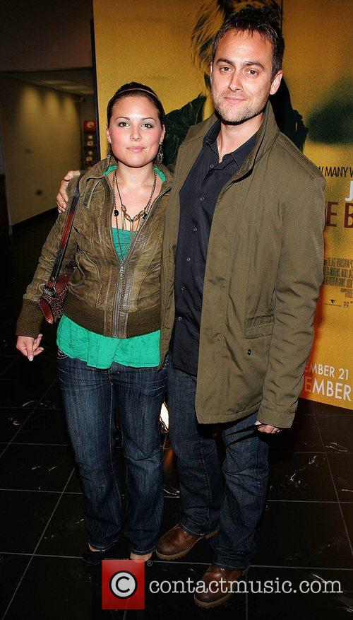 Zoe Townsend and brother Stuart Townsend Irish premiere...