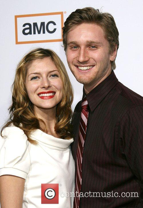 Connie and Aaron Staton Premiere of TV series...