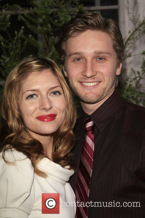 Connie Staton and Aaron Staton Premiere of TV...