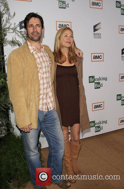 Jon Hamm and Jennifer Westfeldt Premiere of TV...