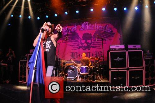Bret Michaels performing live at Club Madrid inside...