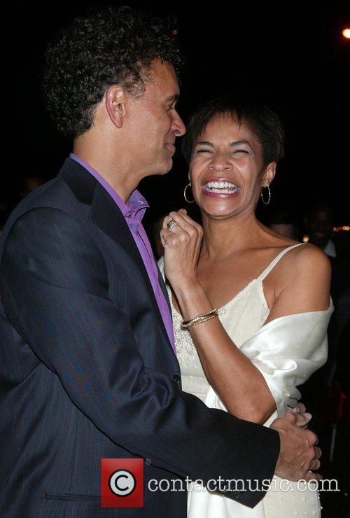 Brian Stokes Mitchell and his wife, actress Allyson...