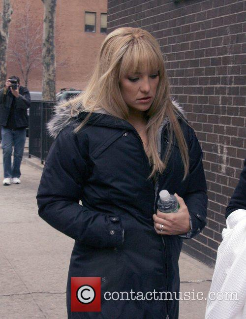 On the film set of 'Bride Wars'