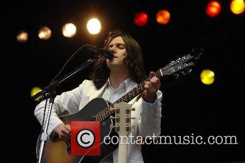 Performs at the 2007 Glastonbury Festival at Worthy...
