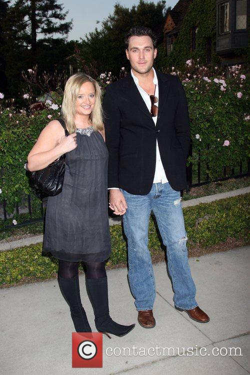 Lucy Davis and Owain Yeoman Champagne Launch of...