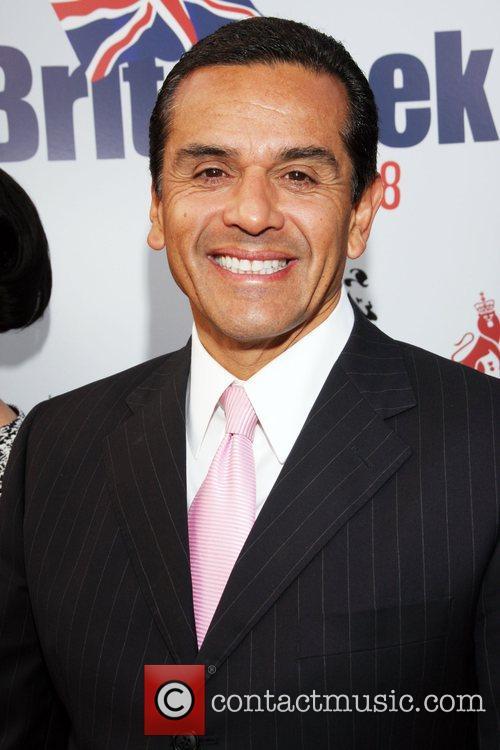 Los Angeles Mayor Antonio Villaraigosa Champagne Launch of...