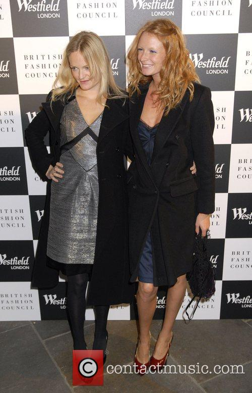 Olivia Inge with her sister Westfield London and...