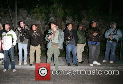 Photographers wait for news outside Britney's residence SPEARS...