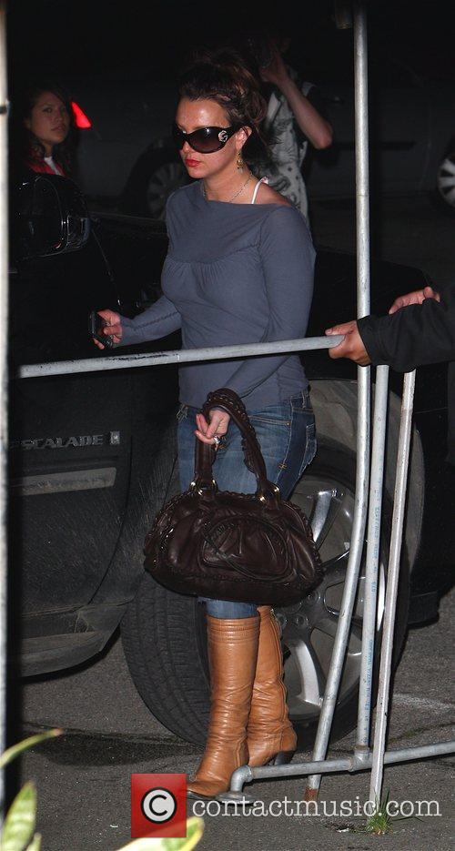 Britney Spears looking flushed leaves the Millennium Dance...
