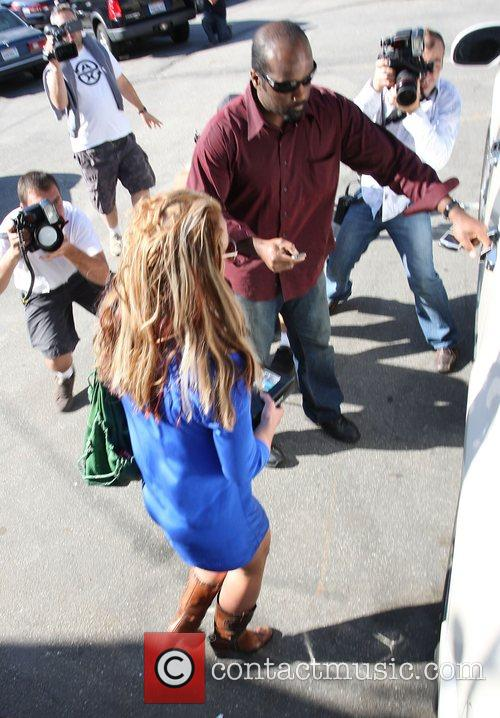 Britney Spears visits a dentist at San Fernando...