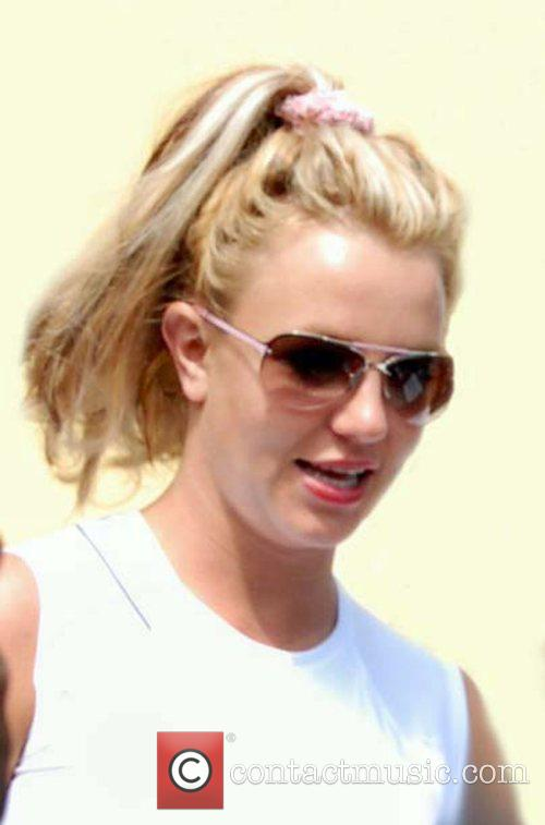 Britney Spears leaving after working out at Bally's...