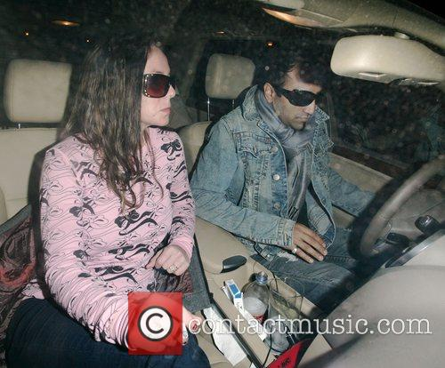 Britney Spears smokes in her car while her...