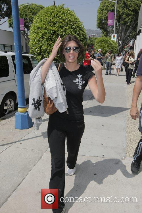 Brittny Gastineau leaving Kitson Accessory Boutique on Robertson