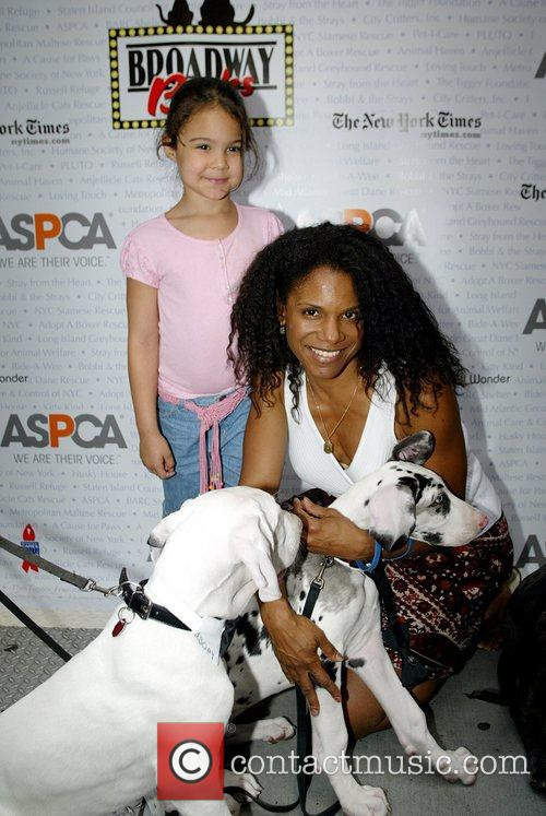 Audra McDonald and her daughter Zoe Broadway Barks...