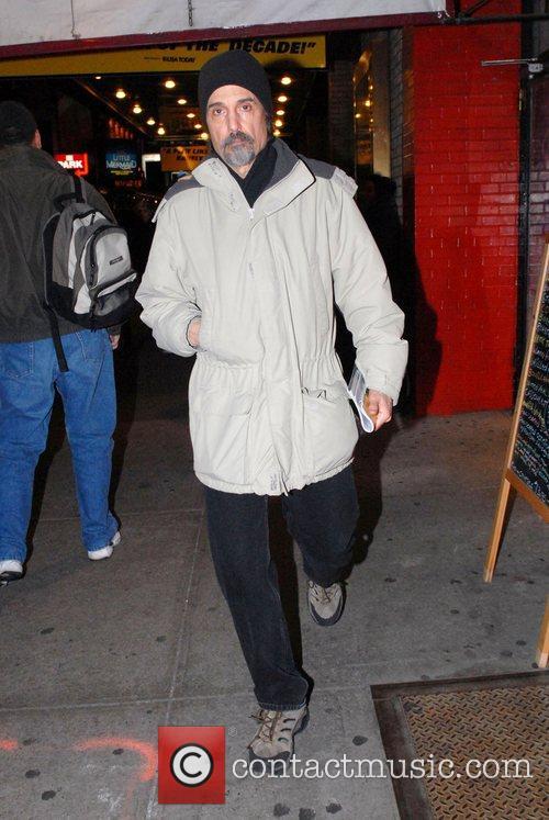 Chris Sarandon  leaving the 'Richard Rodgers Theatre'...