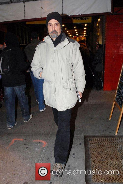 Leaving the 'Richard Rodgers Theatre' after a performance...
