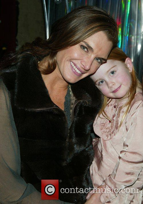 Brooke Shields & daughter Rowan Henchy visit the...