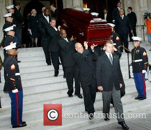 The funeral of Brooke Astor at St. Thomas...