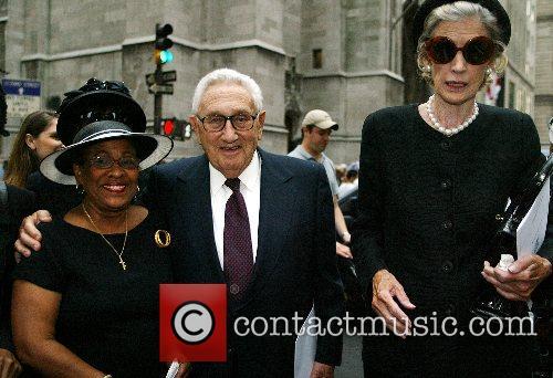 Beverly Thompson, Henry Kissinger, Nancy Kissinger The funeral...