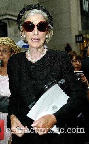 Nancy Kissinger The funeral of Brooke Astor at...