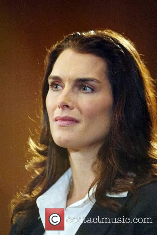 Brooke Shields speaking at the Post Partum Depression...