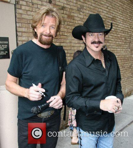 Country recording artists Ronnie Dunn and Kix Brooks...