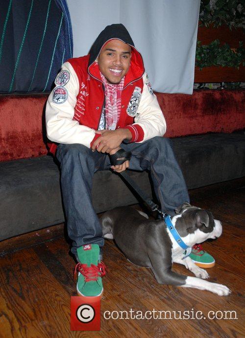 Chris Brown and His Dog