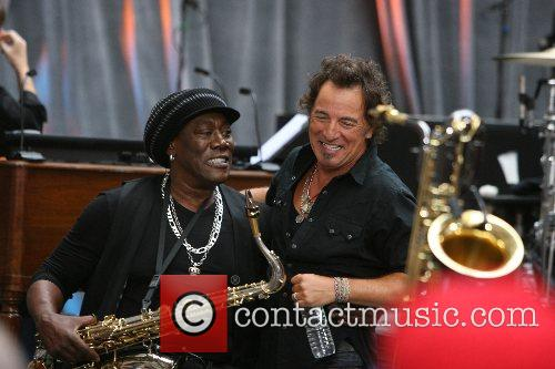 Clarence Clemons and Bruce Springsteen Bruce Springsteen and...