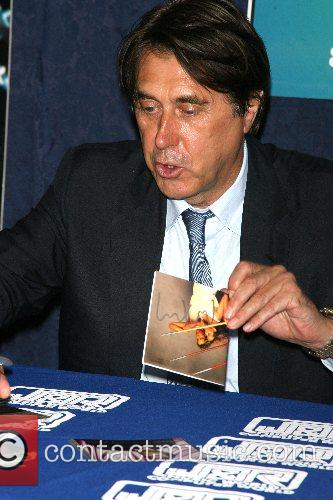 Bryan Ferry  signing copies of his new...