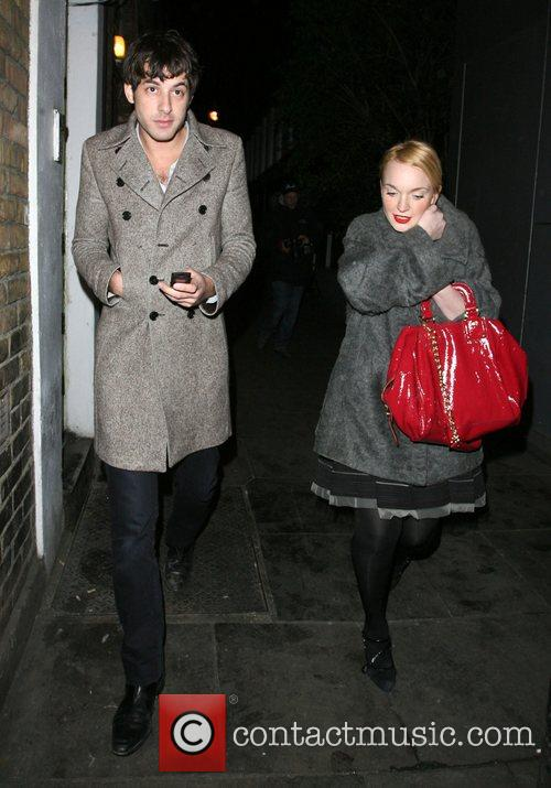 Mark Ronson and A Mystery Woman Looking Rather Worse For Wear Leaving Bungalow 8 Nightclub. 4