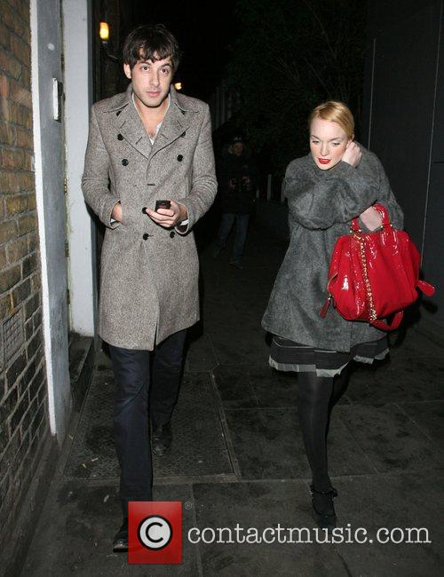 Mark Ronson and A Mystery Woman Looking Rather Worse For Wear Leaving Bungalow 8 Nightclub. 6