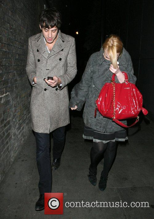 Mark Ronson and A Mystery Woman Looking Rather Worse For Wear Leaving Bungalow 8 Nightclub. 2