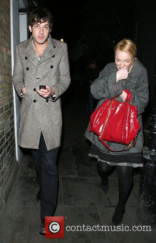 Mark Ronson and A Mystery Woman Looking Rather Worse For Wear Leaving Bungalow 8 Nightclub. 3